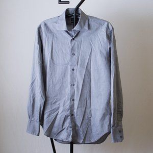 Zara Man Tailored Fit Gray Button Down Size 15